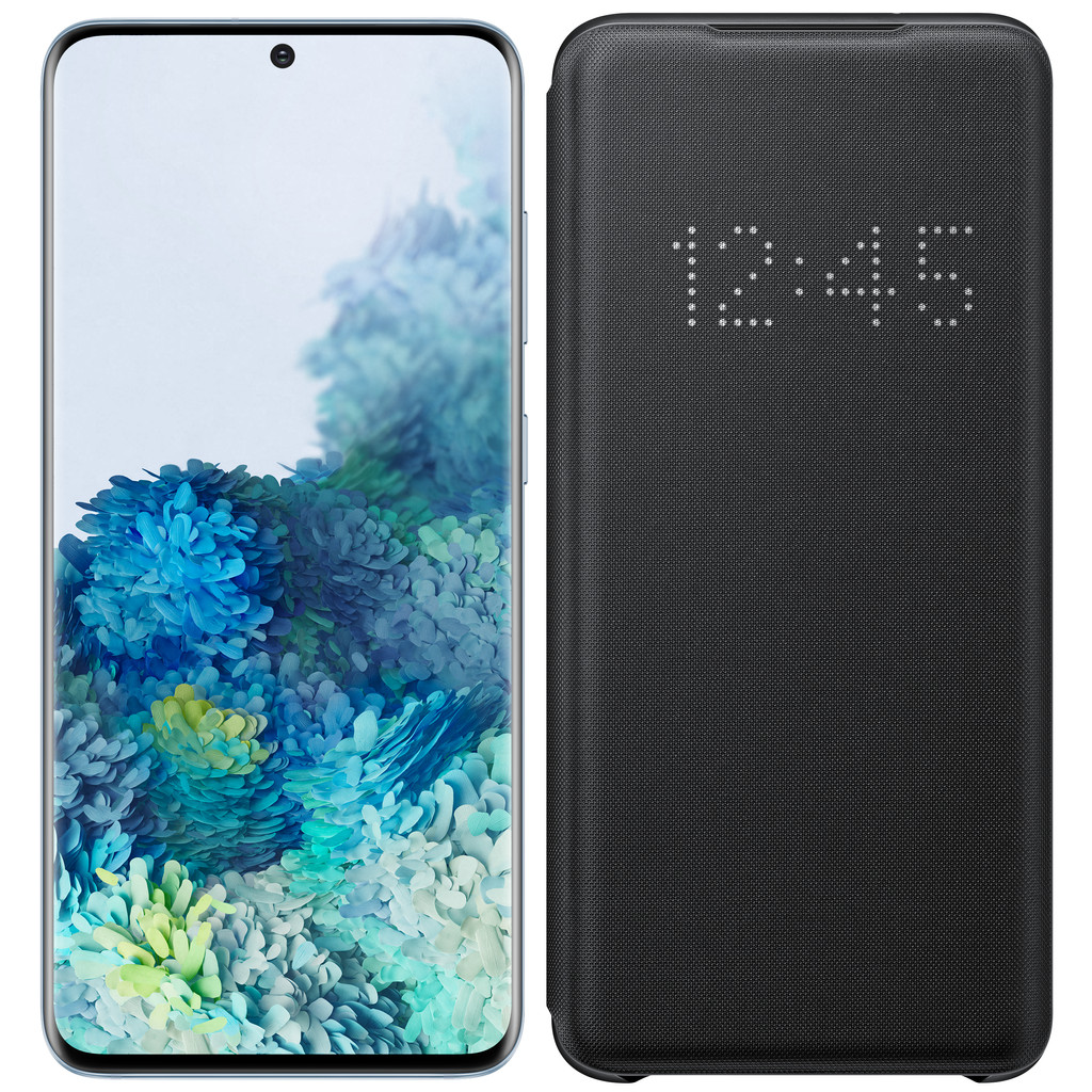 Samsung Galaxy S20 128GB Blauw 4G + Samsung LED View Cover Zwart-128 GB opslagcapaciteit  6,2 inch quad hd scherm  Android 10