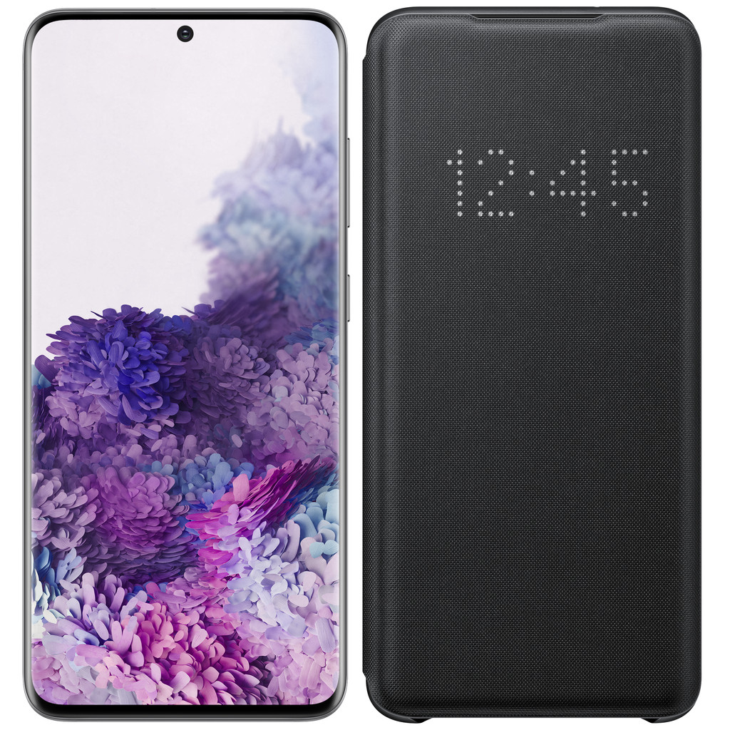 Samsung Galaxy S20 128GB Grijs 5G + Samsung LED View Cover Zwart-128 GB opslagcapaciteit  6,2 inch quad hd scherm  Android 10