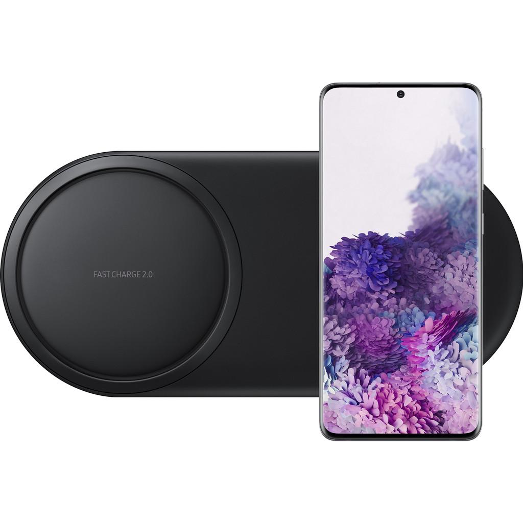 Samsung Galaxy S20 Plus 128GB Grijs 5G + Samsung Draadloze Oplader DUO Pad Zwart-128 GB opslagcapaciteit  6,7 inch quad hd scherm  Android 10.0