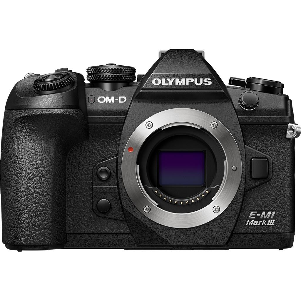 Olympus E-M1 Mark III body-Micro four thirds sensor  Geen lens meegeleverd  Beeldstabilisatie
