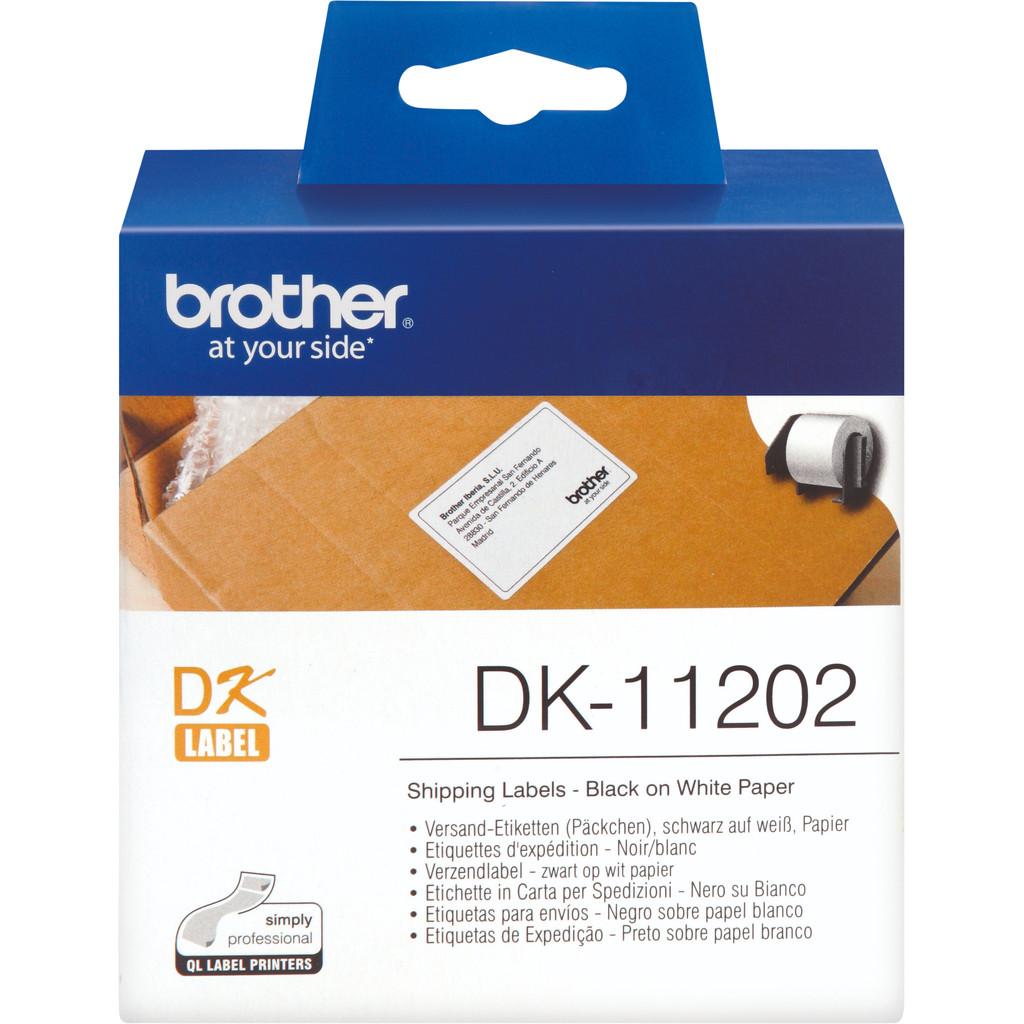 Brother Verzendetiketten DK11202 62 x 100 mm Wit 300 Stuks