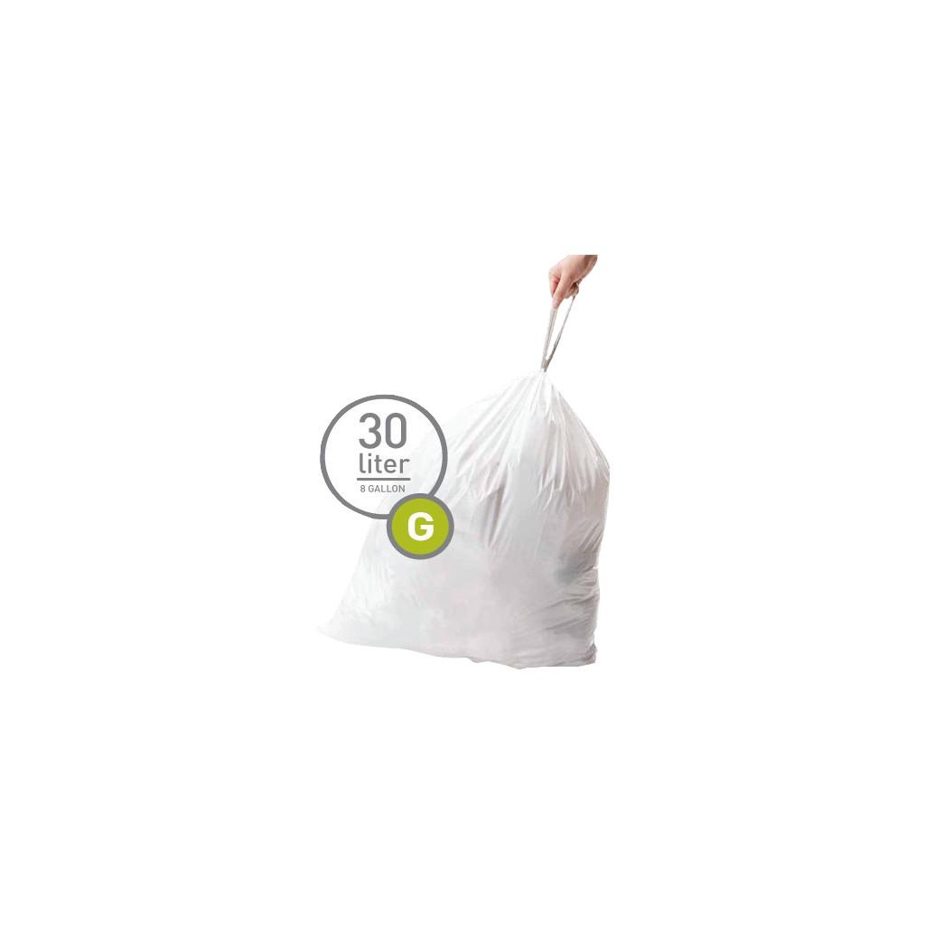 Simplehuman Afvalzakken Code G - 30 Liter (20 stuks)