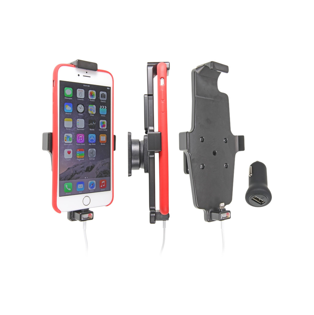 Brodit Passive Holder Apple iPhone 6 Plus with Skin + Lader