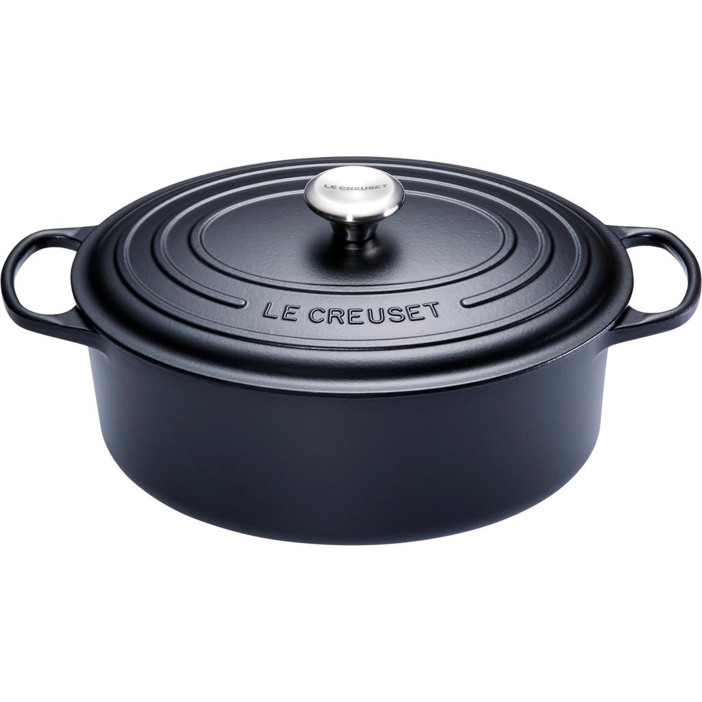 Le Creuset Ovale Stoof--Braadpan 31 cm Zwart