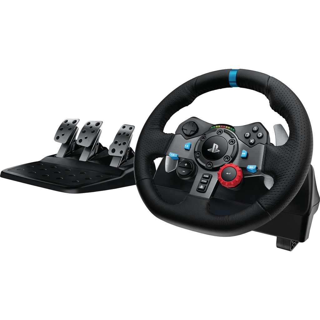 Tweedekans Logitech G29 Driving Force - Racestuur voor PlayStation 5, PlayStation 4 & PC Tweedehands