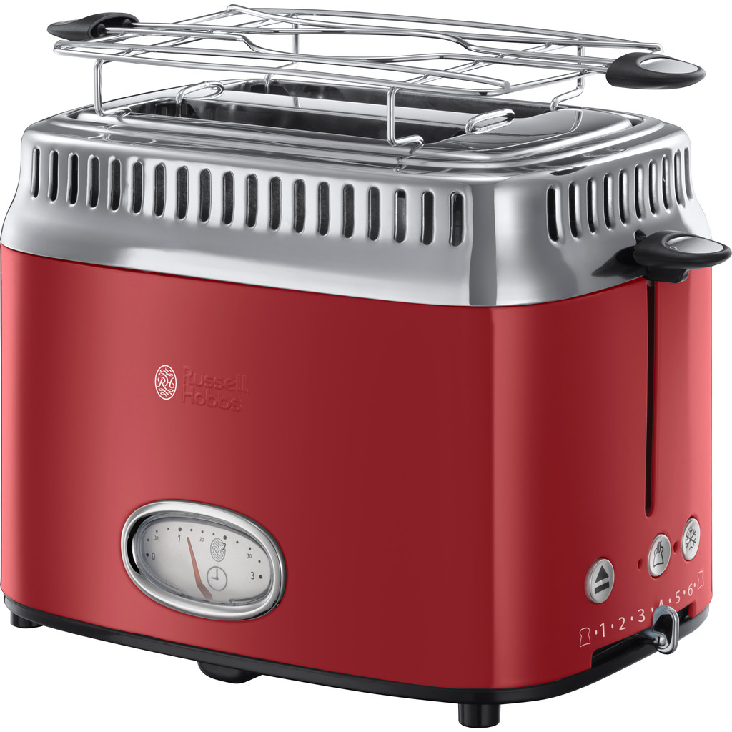 RUSSELL HOBBS TOASTER RETRO RED 21680-56