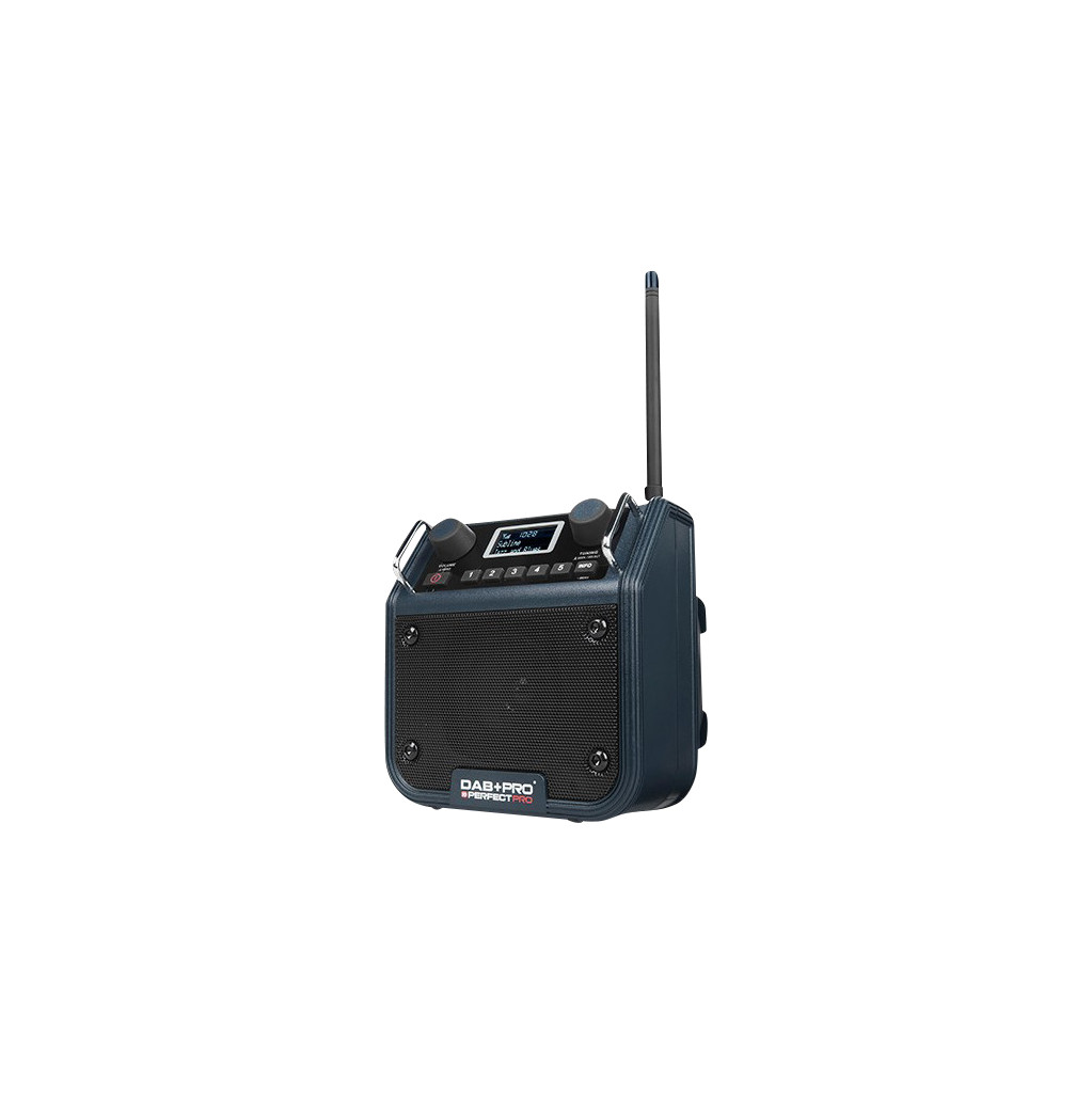 DAB+ Baustellenradio PerfectPro AUX, DAB+, FM spatwaterbestendig, stofvast, stofdicht Blauw