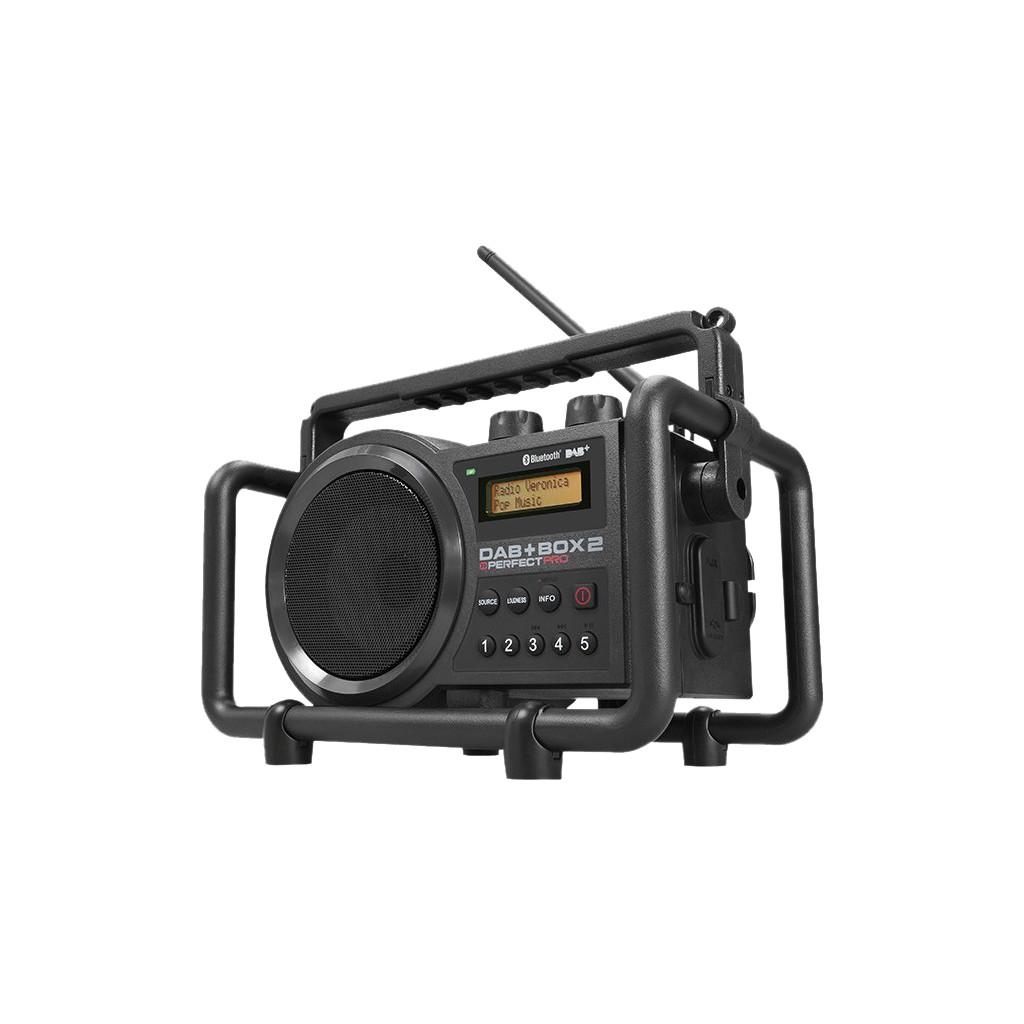 DAB+ Baustellenradio PerfectPro AUX, Bluetooth, DAB+, FM spatwaterbestendig, stofdicht, stofvast Zwa