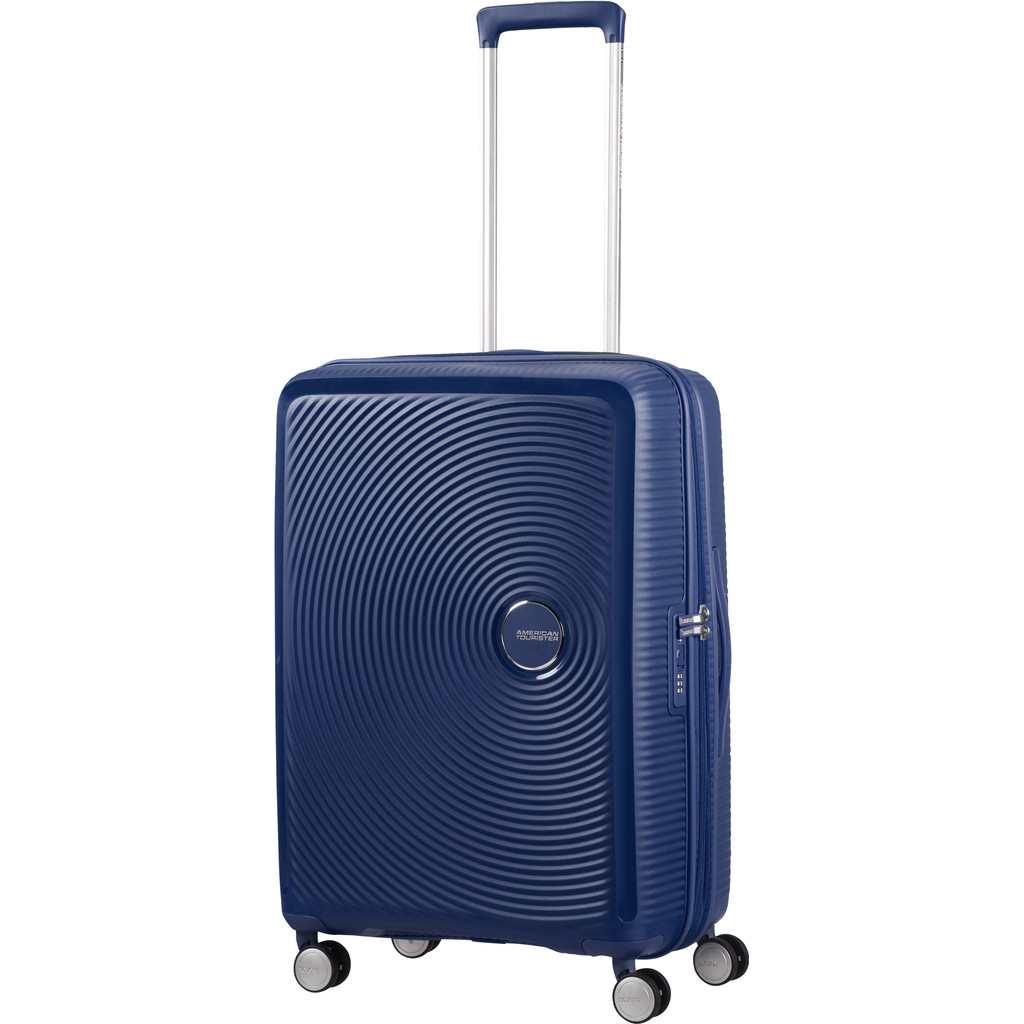 American Tourister Soundbox Spinner 67 Expandable midnight navy Harde Koffer