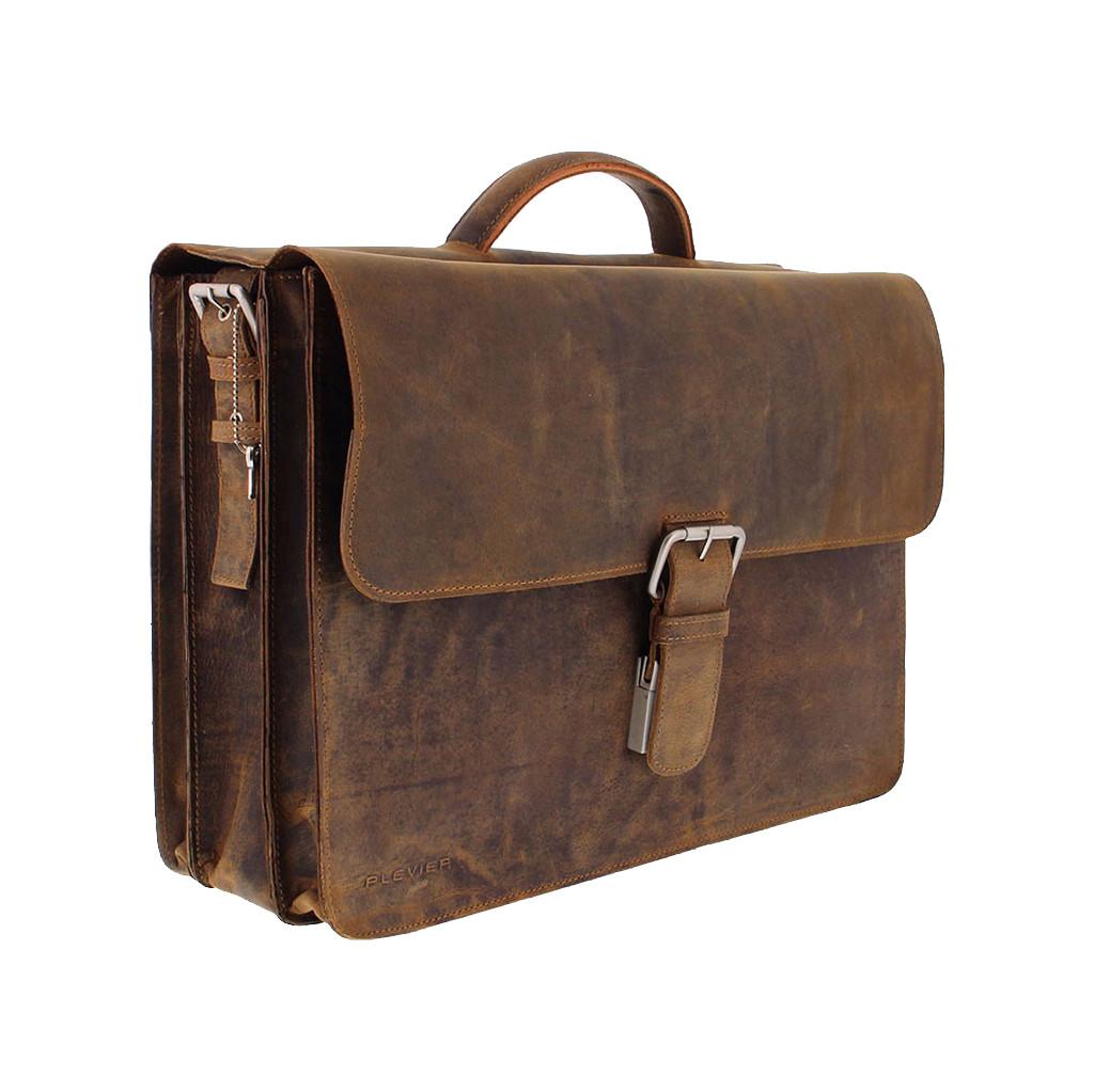 Plevier 555-2 laptoptas 17.3'' bruin