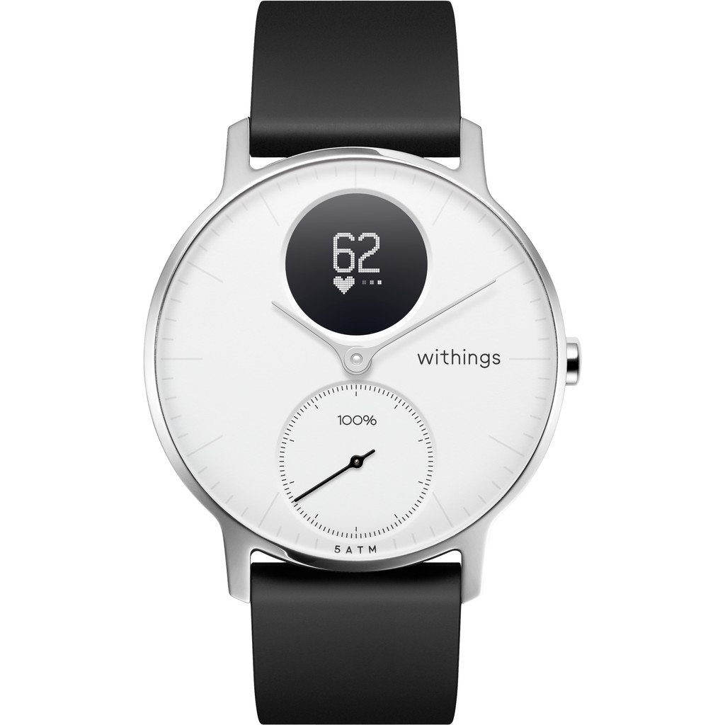 Withings Steel HR Zilver Wit 36 mm
