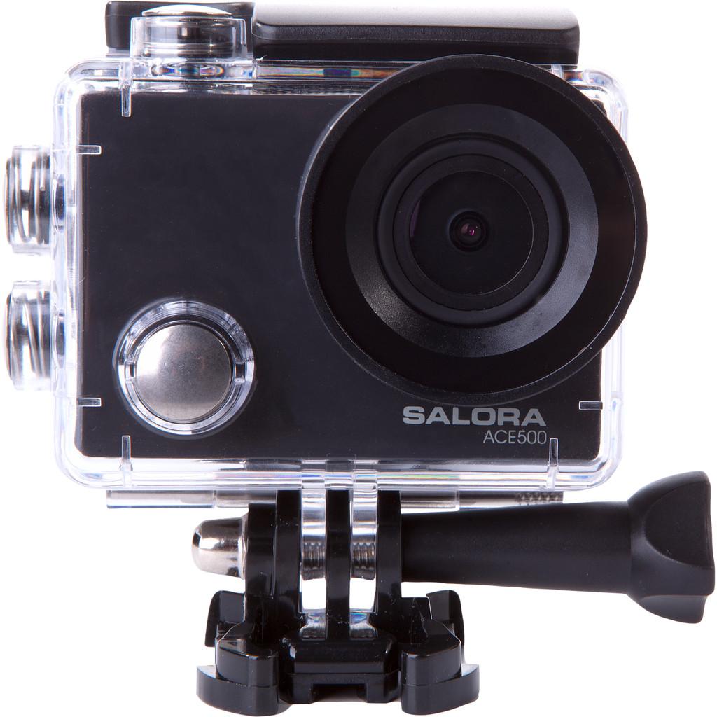 Salora ACE500-4K met 30 frames per seconde  16 megapixel foto's  Met meegeleverd stuur/zadelpen bevestiging