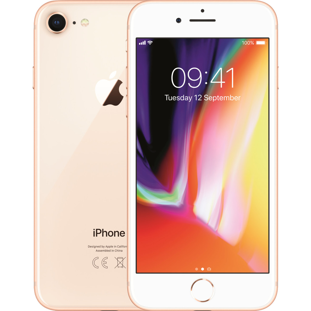 Apple iPhone 8 64GB Goud-64 GB opslagcapaciteit  4,7 inch Retina HD scherm  iOS 13