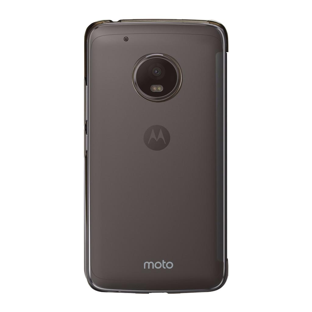 Motorola Moto G5 Touch Book Case Donkergrijs