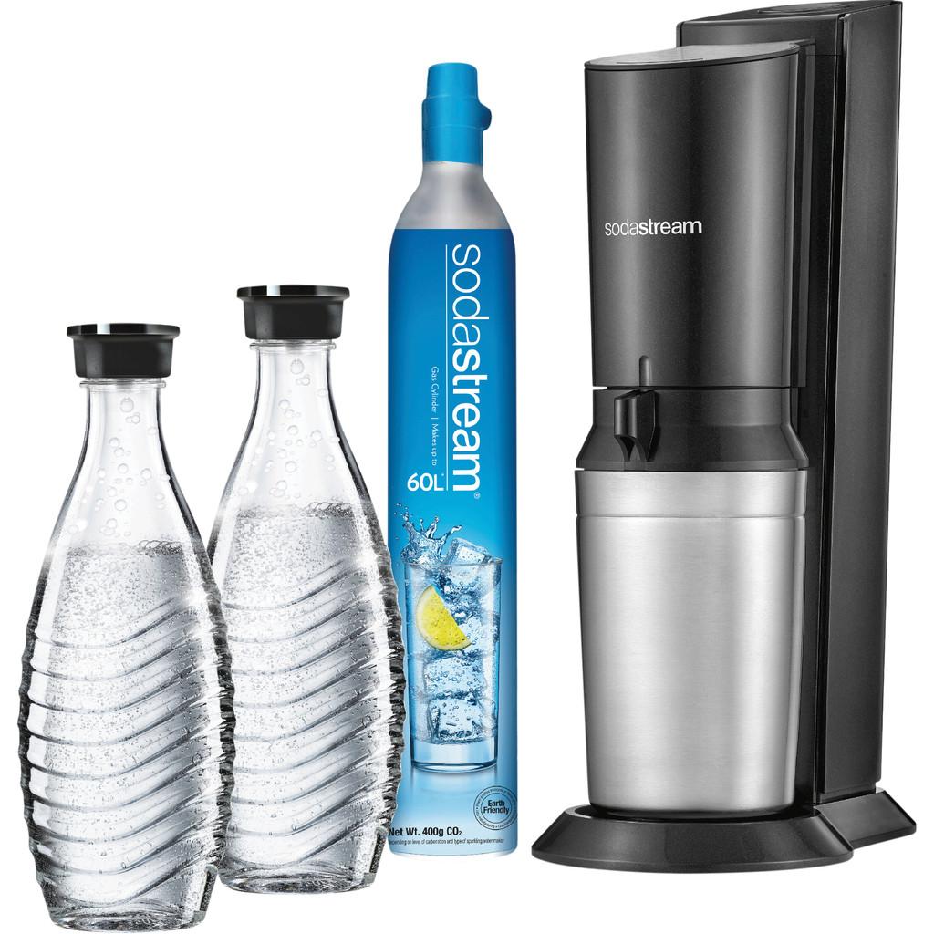 SodaStream bruiswatertoestel Crystal zwart incl. 2 karaffen