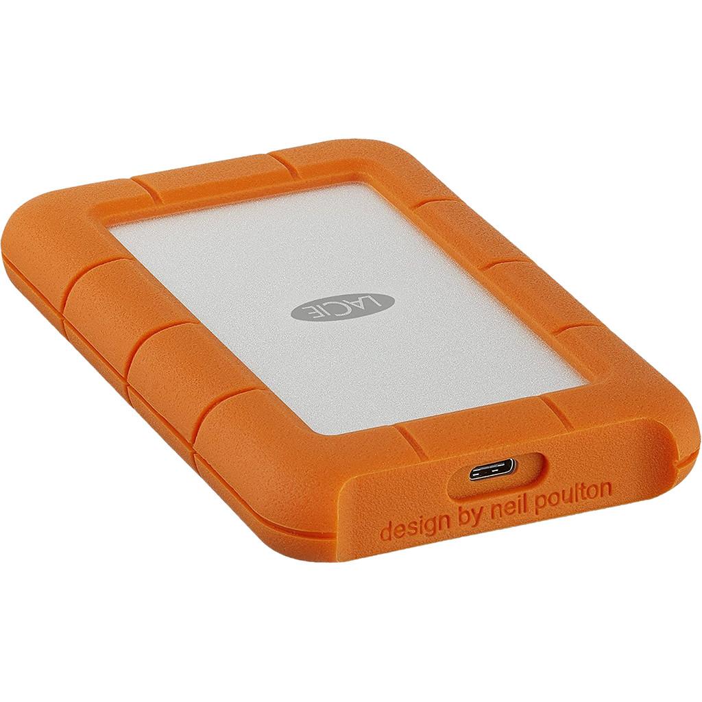 LaCie Rugged Secure 2000GB Oranje, Wit externeharde schijf