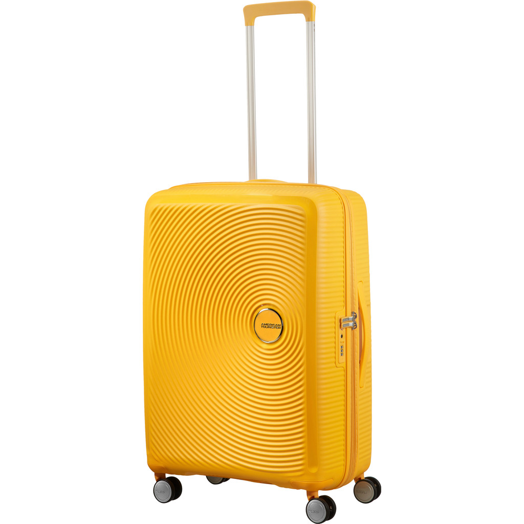 American Tourister Soundbox Spinner 67 Expandable golden yellow Harde Koffer