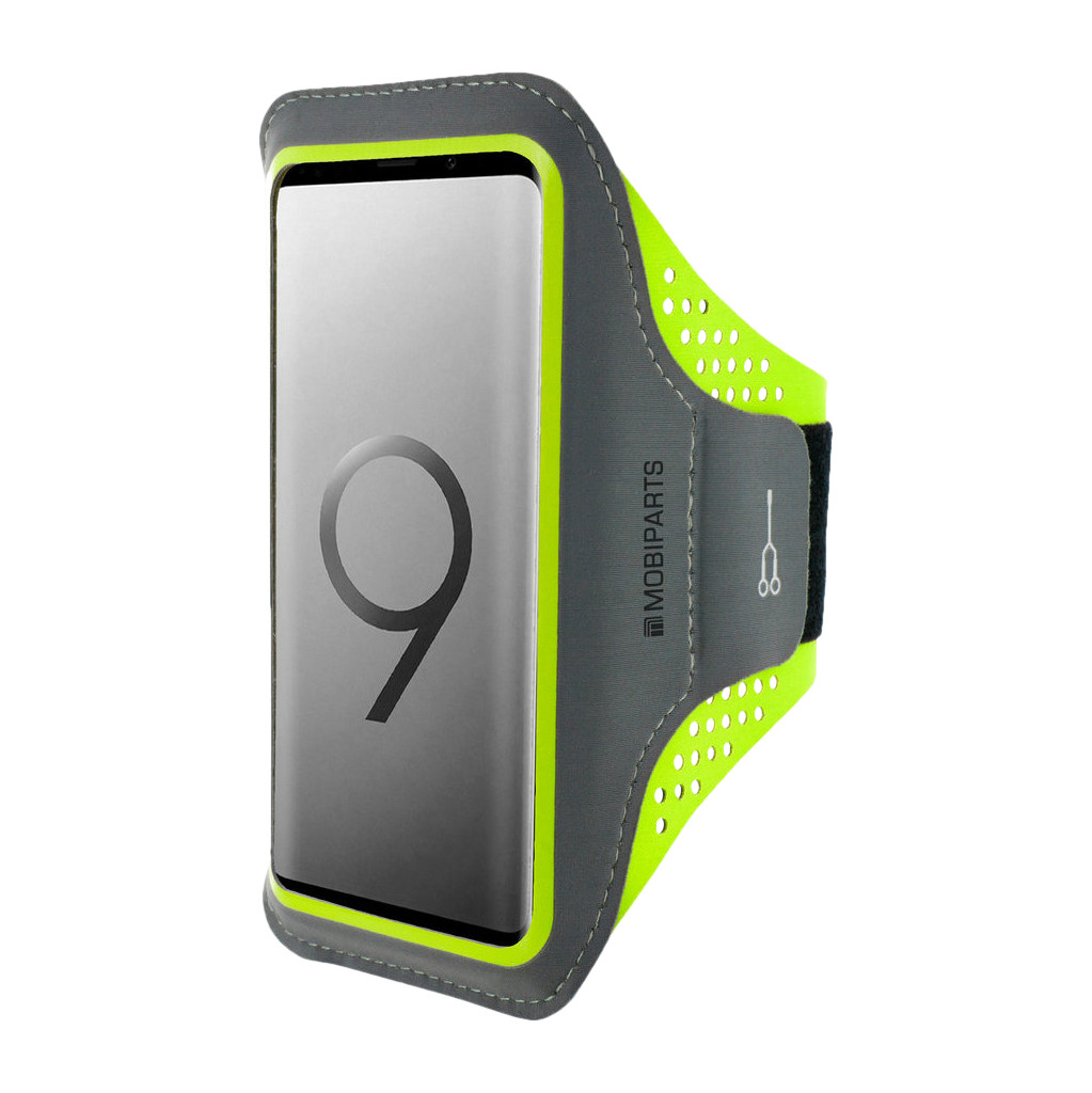 Mobiparts Comfort Fit Sportarmband Samsung Galaxy S9 Groen