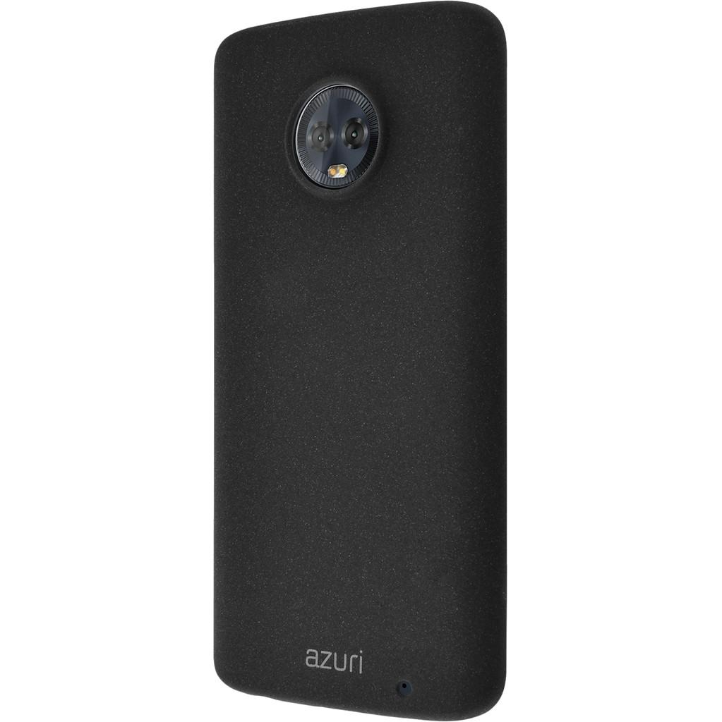 Azuri Flexible Sand Motorola Moto G6 Plus Back Cover Zwart