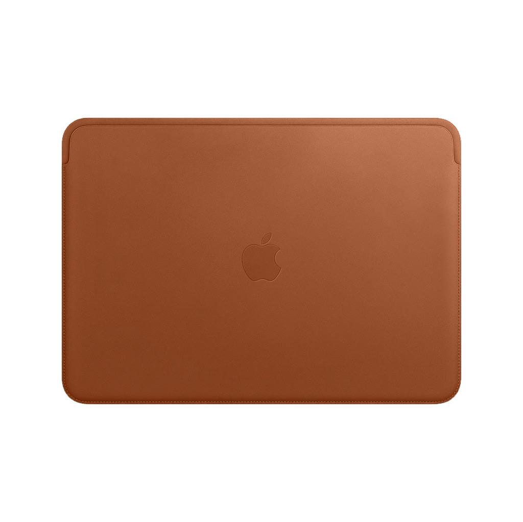 Apple Laptophoes Lederhülle Zadelbruin