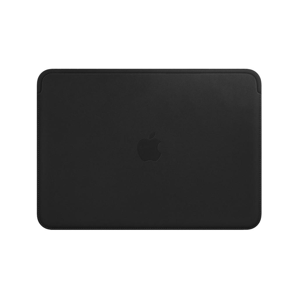 """Tweedekans Apple MacBook 12"""" Leather Sleeve Black"""