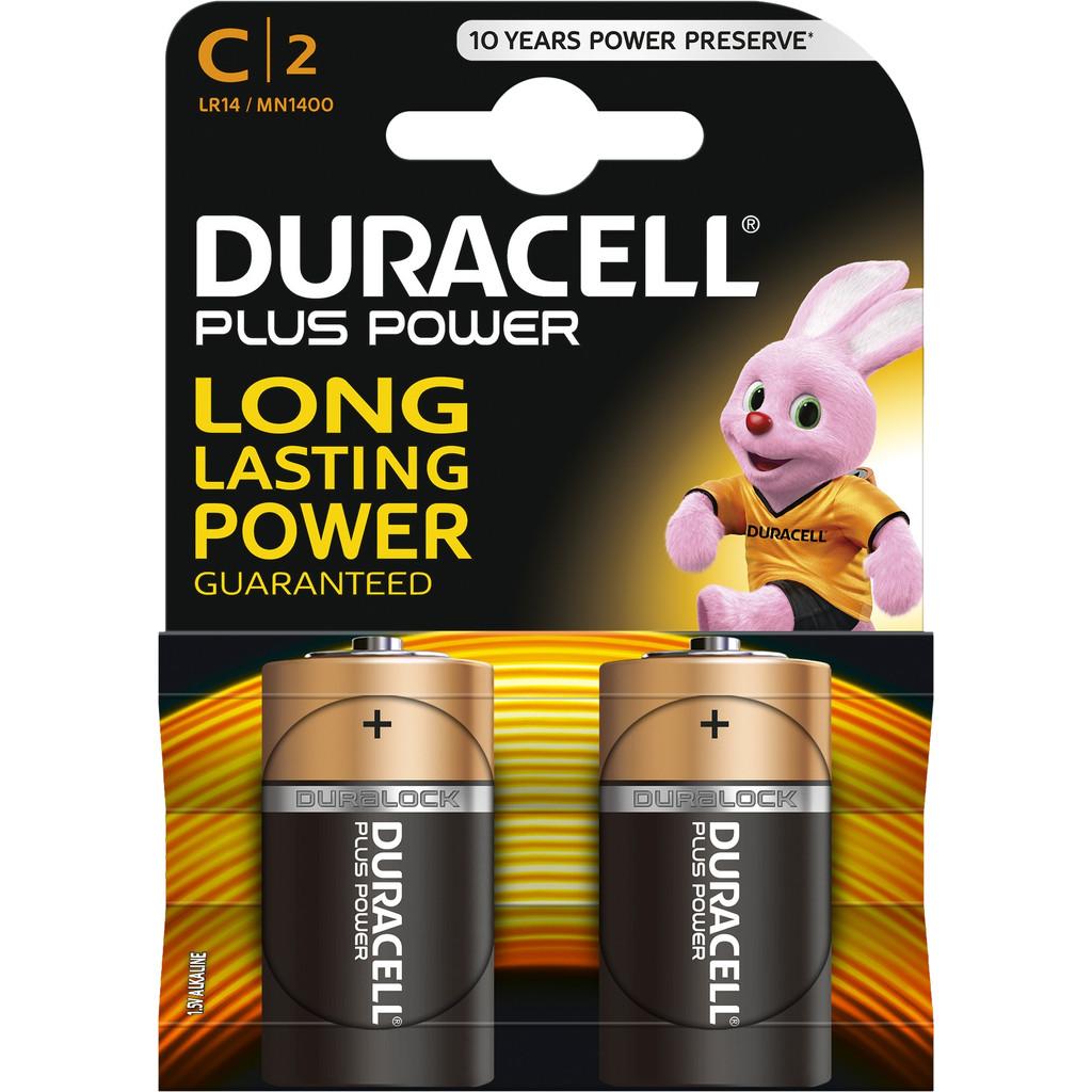 Duracell Plus Power alkaline C-batterijen 2 stuks