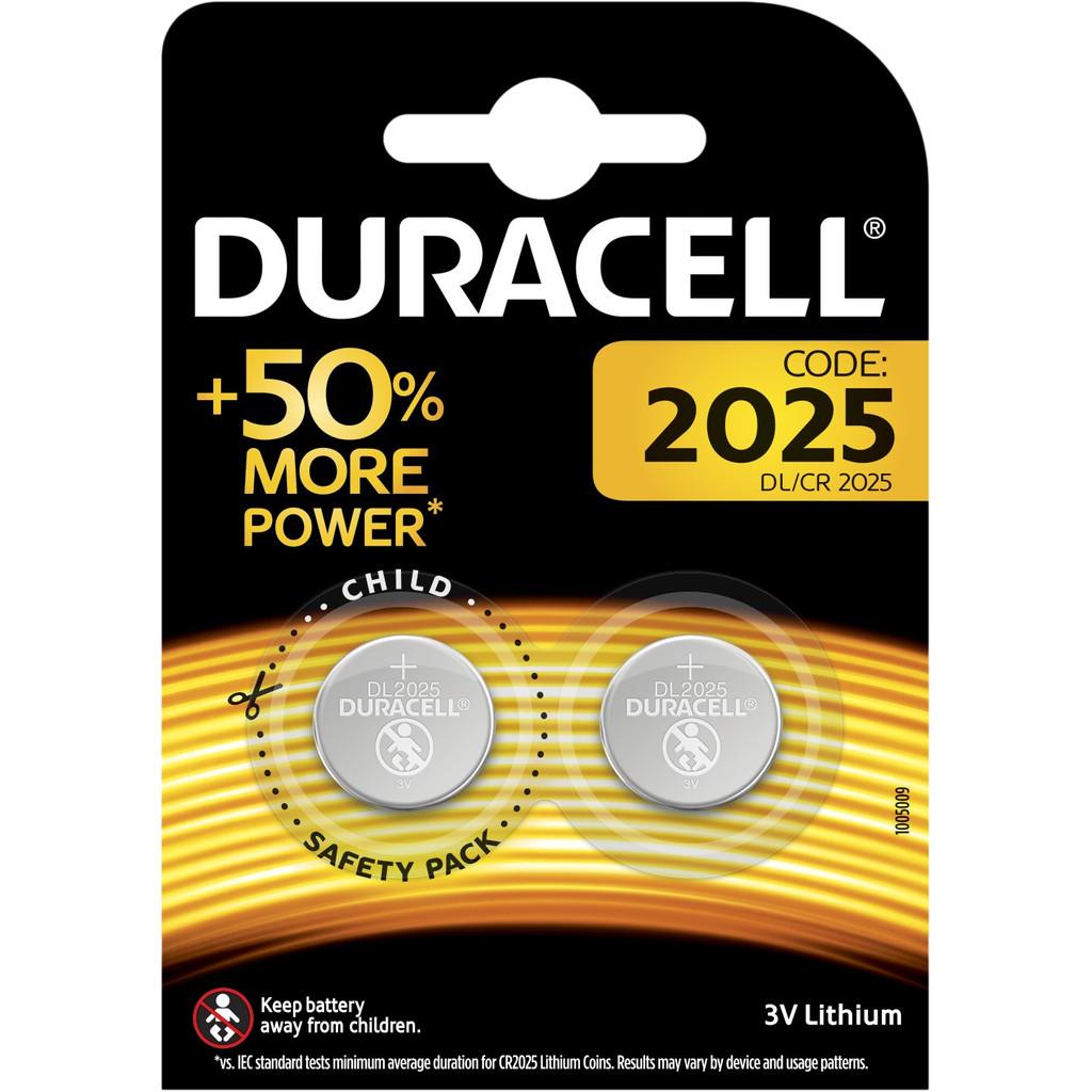Duracell Specialty 2025 Lithium-knoopcelbatterij 3V 2 stuks