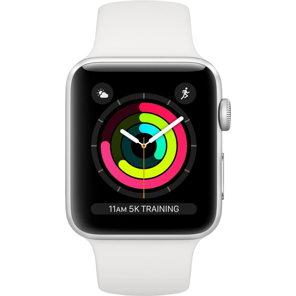 APPLE Watch Series 3 42mm zilver aluminium-wit sportbandje