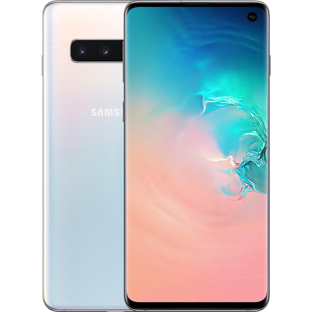 Samsung Galaxy S10 128GB Wit-128 GB opslagcapaciteit  6,1 inch Quad HD scherm   Android 9.0 Pie