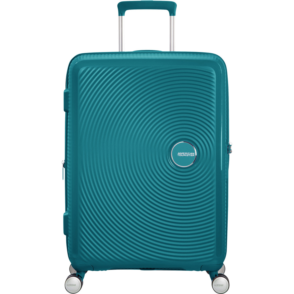 American Tourister Soundbox Spinner 67 Expandable jade green Harde Koffer