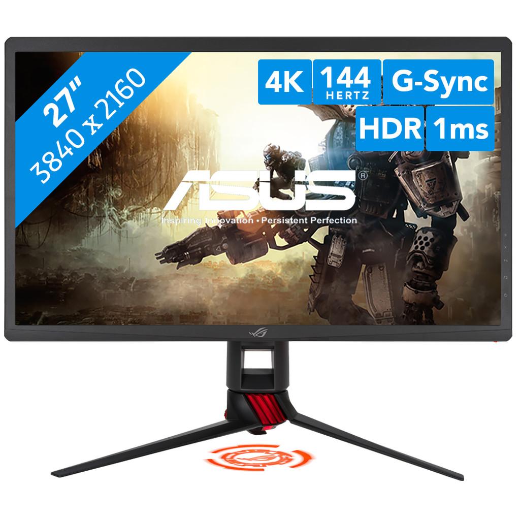 ASUS ROG Strix XG27UQ-27 inch  3840 x 2160 resolutie   Displayport, hdmi, usb a, hoofdtelefoon
