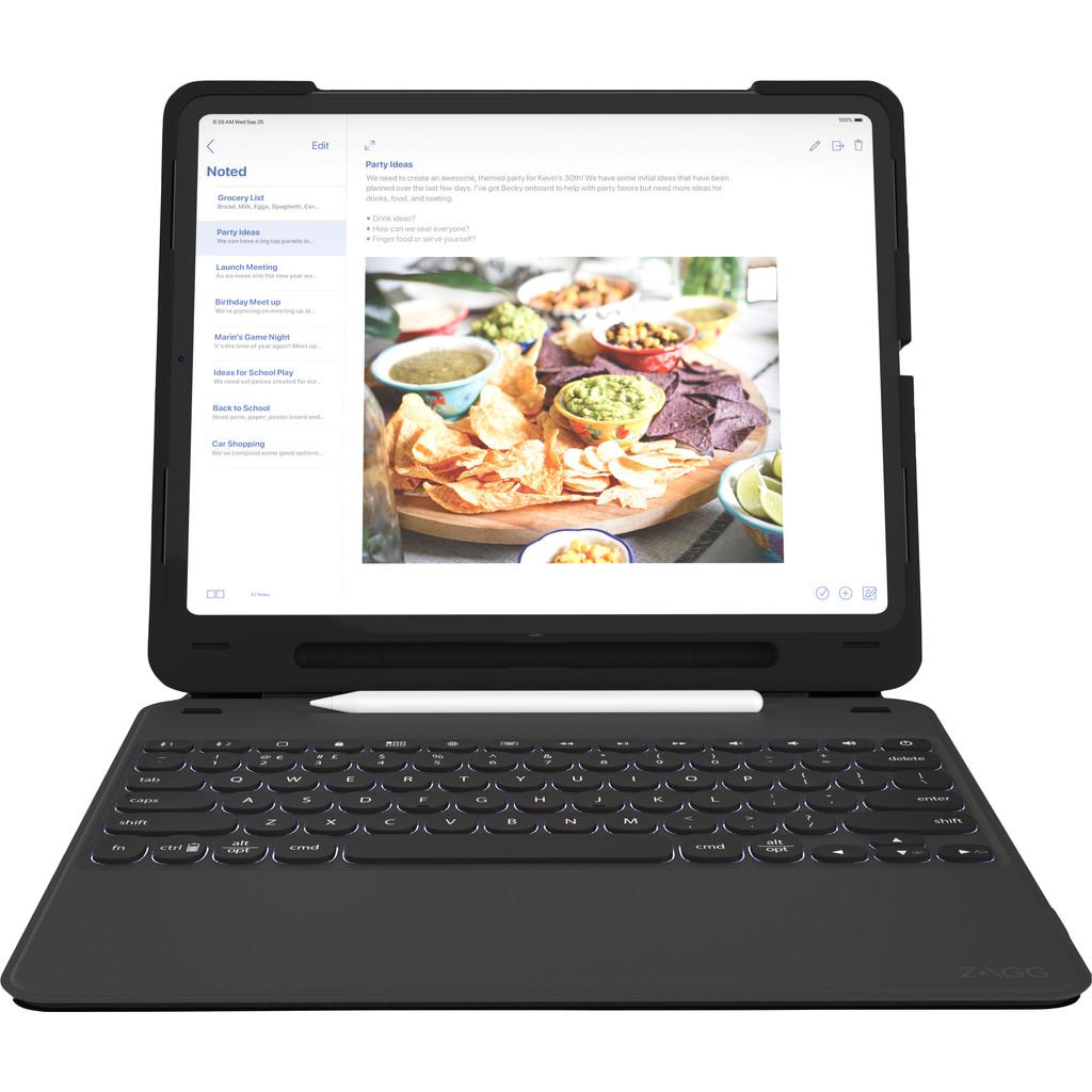 Tweedekans ZAGG Slim Book Go Apple iPad Pro 12,9 inch (2018) Toetsenbord Hoes QWERTY Zwart