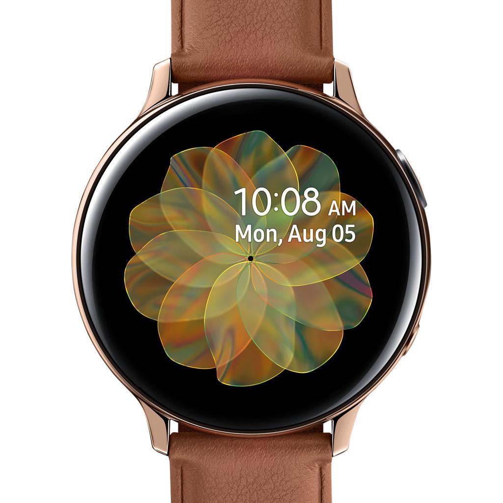 Tweedekans Samsung Galaxy Watch Active2 Goud / Bruin 44 mm RVS
