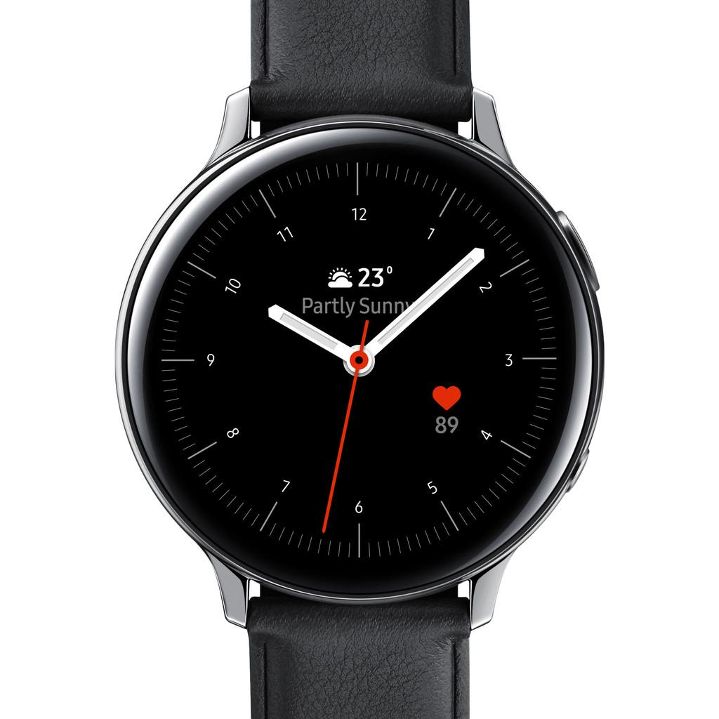 Tweedekans Samsung Galaxy Watch Active2 Zilver / Zwart 44 mm RVS