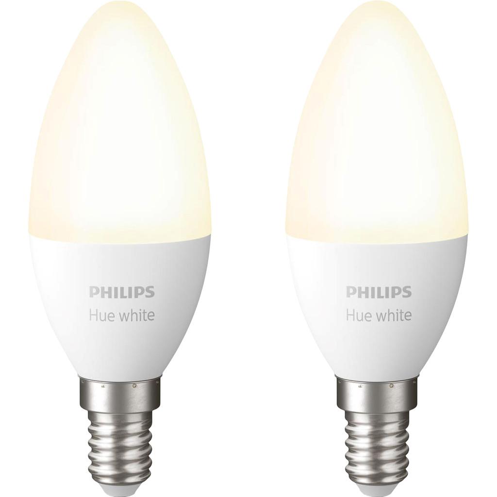Philips Hue Kaarslamp White E14 Bluetooth Duo Pack
