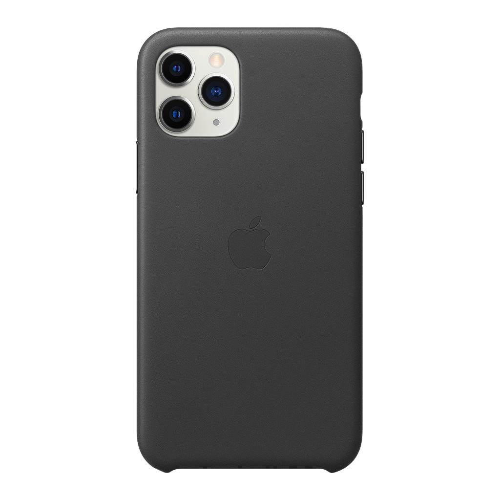 Apple iPhone 11 Pro Leather Back Cover Zwart