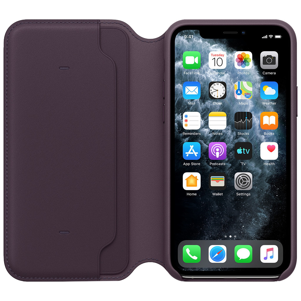 Tweedekans Apple iPhone 11 Pro Leather Folio Aubergine