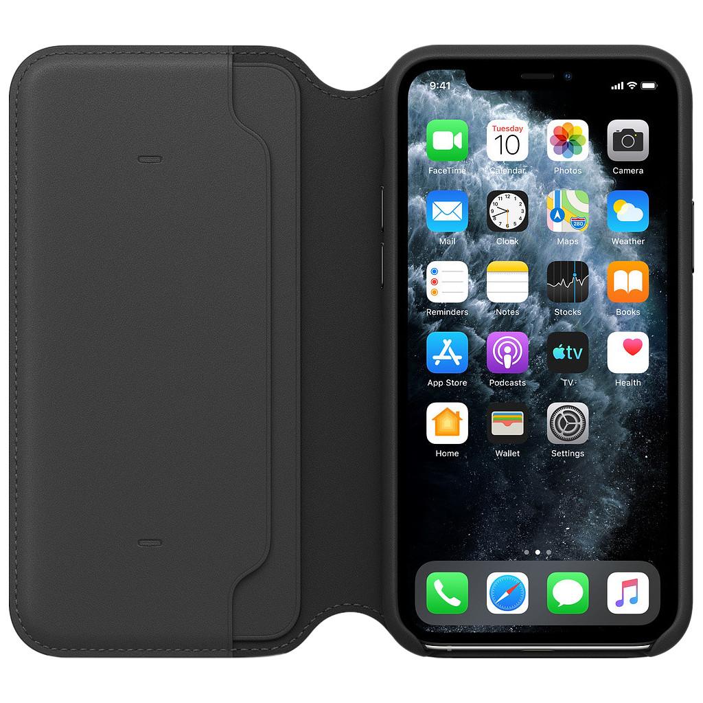 Tweedekans Apple iPhone 11 Pro Max Leather Folio Zwart