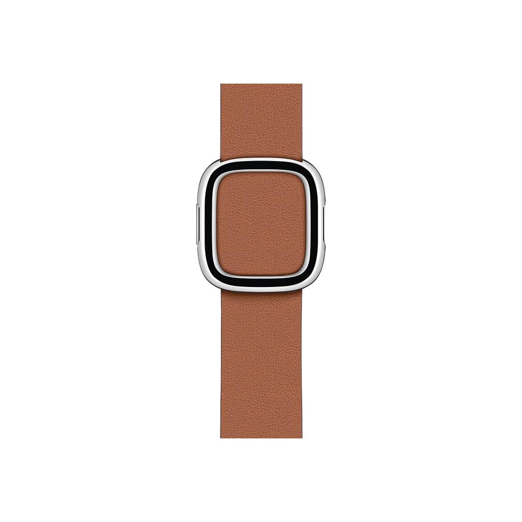Tweedekans Apple Watch 38/40 mm Modern Leren Horlogeband Zadelbruin - Small