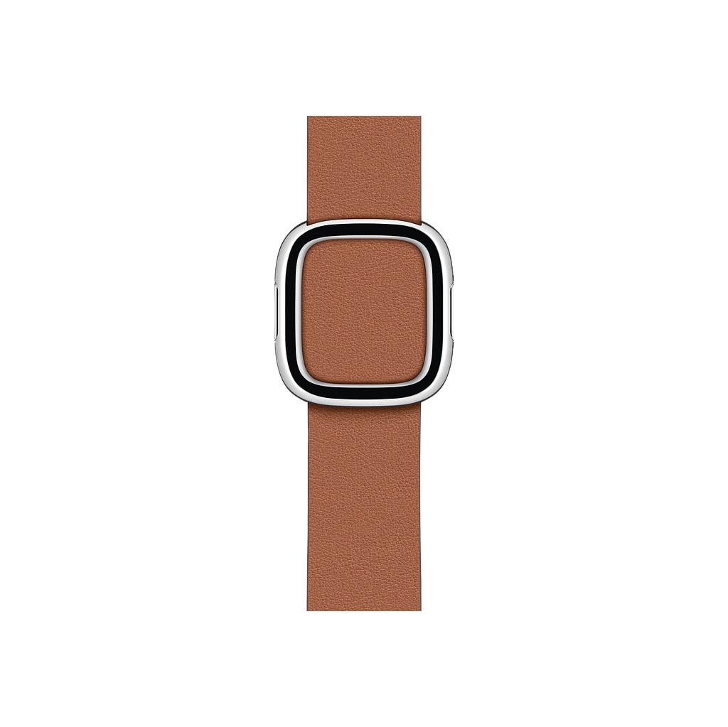 Tweedekans Apple Watch 38/40 mm Modern Leren Horlogeband Zadelbruin - Medium