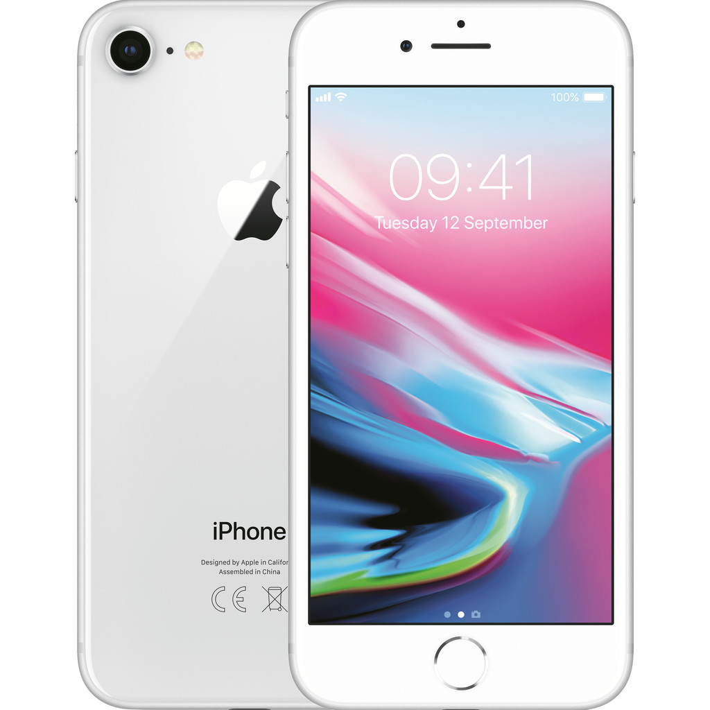 Apple iPhone 8 128GB Zilver-128 GB opslagcapaciteit  4,7 inch Retina HD scherm  iOS 13
