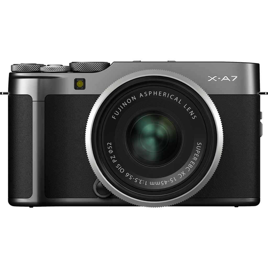 Systeemcamera Fujifilm X-A7 incl. accu 24.2 Mpix Zwart, Antraciet 4K Video, Touch-screen, Bluetooth,