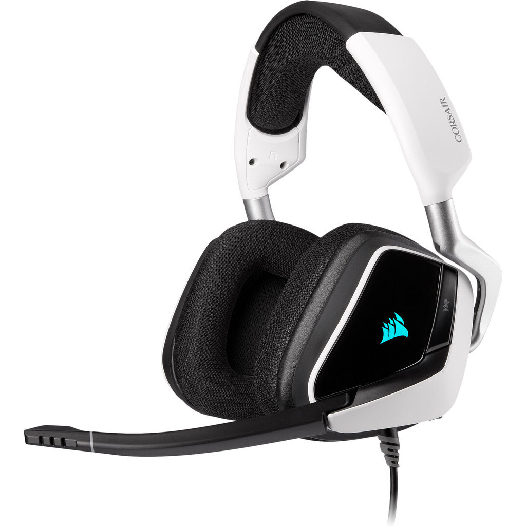 Tweedekans Corsair Void RGB Elite USB Premium Gaming Headset PC Zwart/Wit
