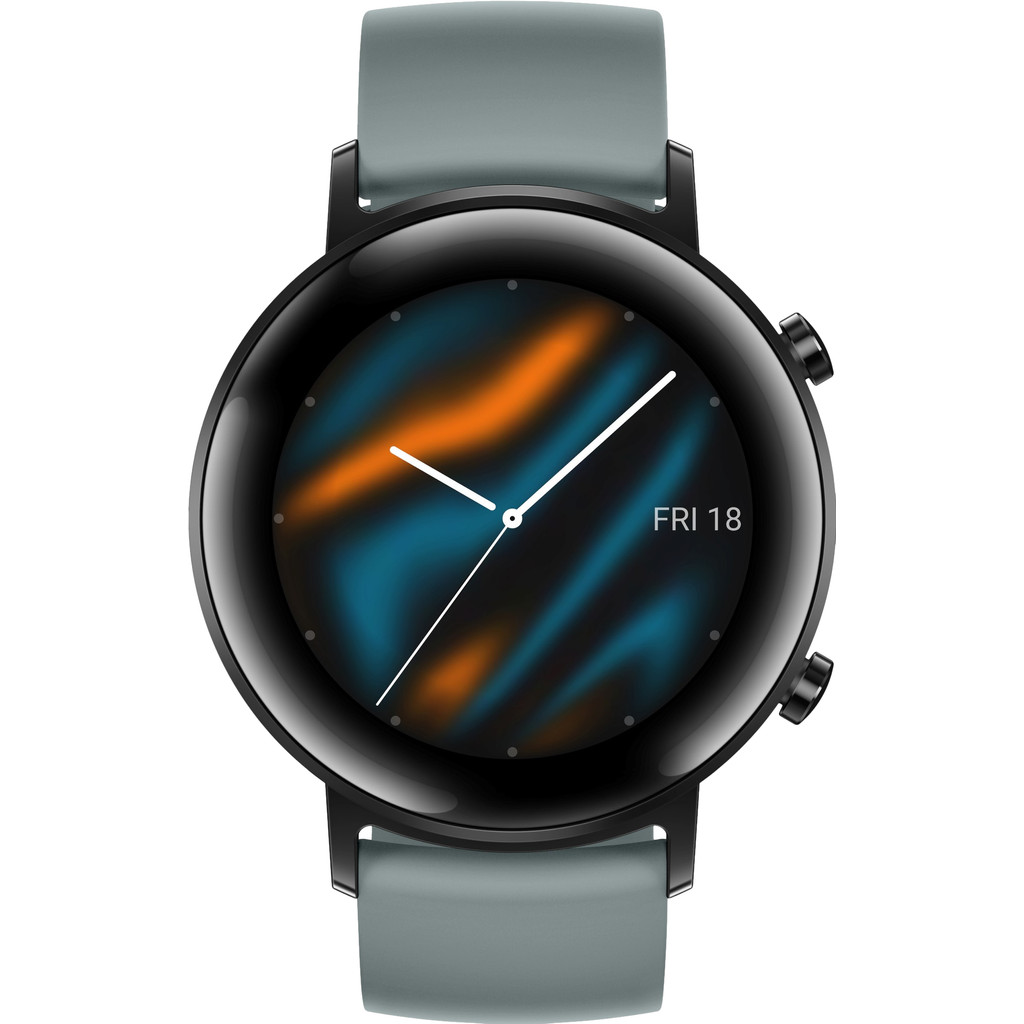 Tweedekans Huawei Watch GT 2 RVS Zwart/Cyan 42mm