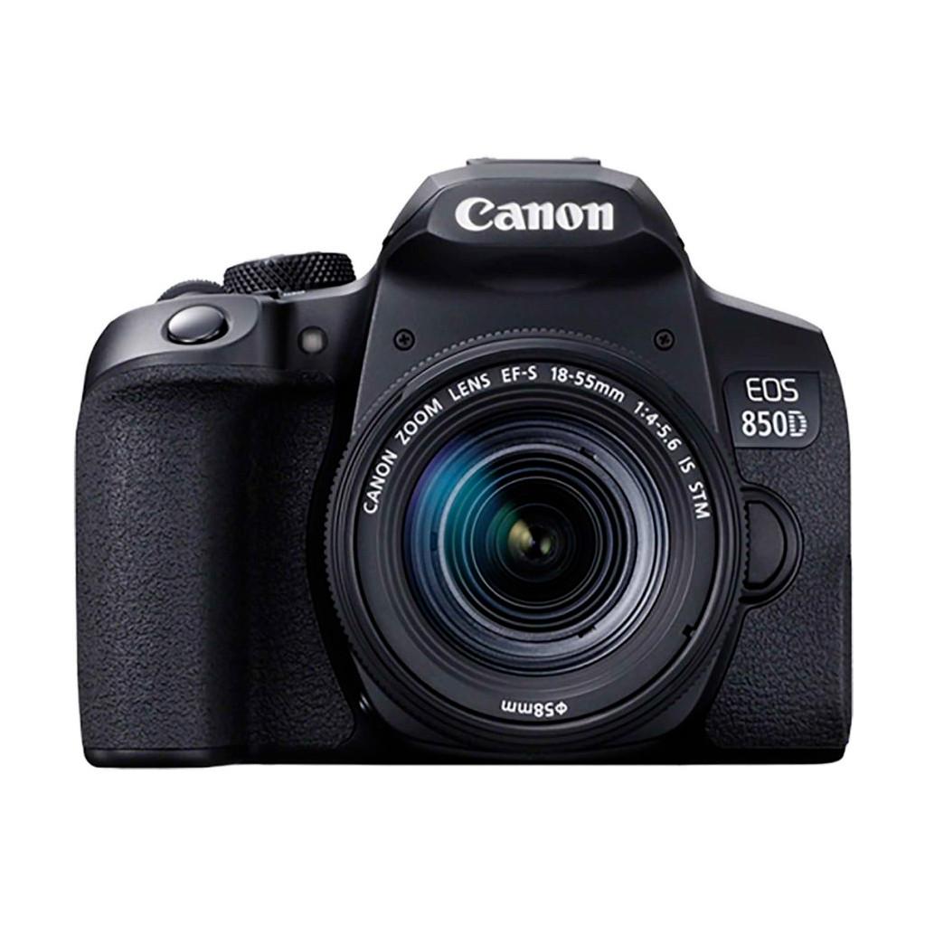 Canon EOS 850D + 18-55mm f/4-5.6 IS STM-Geschikt voor type fotograaf: Gevorderd  Lens meegeleverd: Ja  Type beeldsensor: APS-C