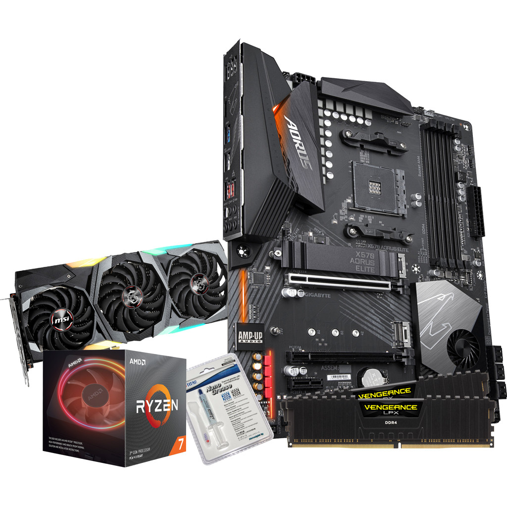 AMD Advanced Upgrade Kit + MSI GeForce RTX 2080 Super Gaming X Trio-AMD Ryzen 7 3700X  Gigabyte X570 Aorus Elite  Vengeance LPX 16 GB DDR4 DIMM 3000 MHz/15 Zwart (2x8GB)