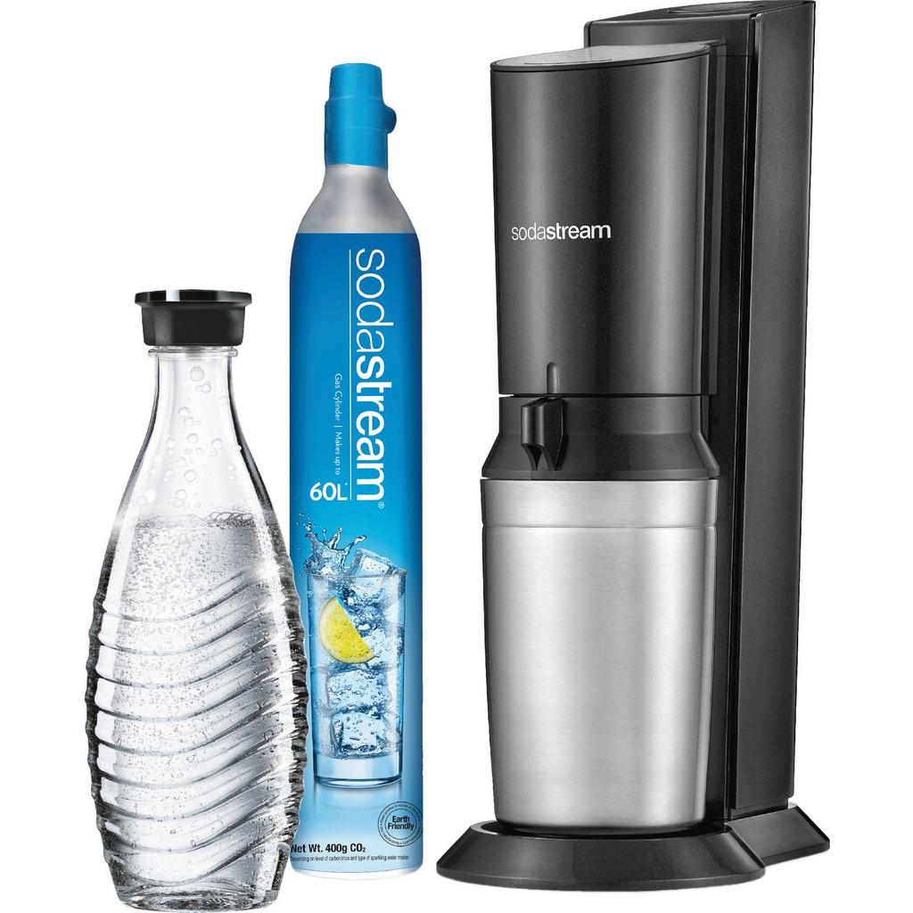 Sodastream kristal soda Maker Titaanzwart 1016512491 Basisapparaat, incl. 1 glazen karaf, incl. 1 CO