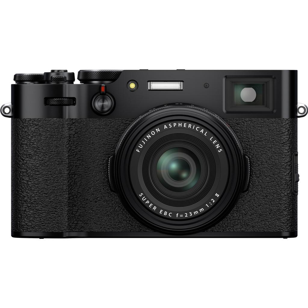 Fujifilm X100V Zwart-26,1 megapixel APS-C sensor  23mm lens f/2.0  4K, 30 fps