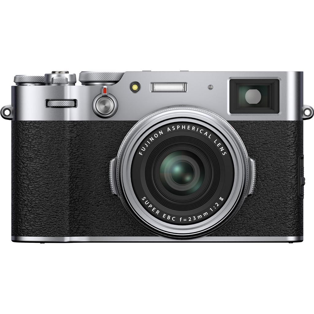 Fujifilm X100V Zilver-26,1 megapixel APS-C sensor  23mm lens f/2.0  4K, 30 fps