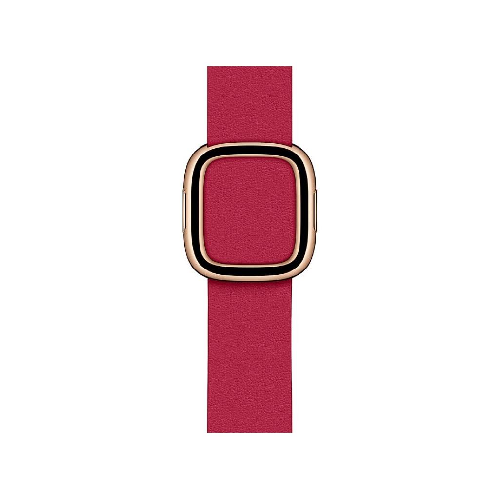 Tweedekans Apple Watch 38/40 mm Modern Leren Horlogeband Framboos - Small Tweedehands